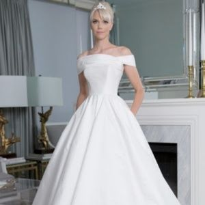 Romona Keveza Legends Off The Shoulder Ball Gown
